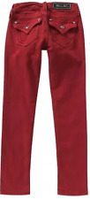 NWT Girls Miss Me Denim Jeans Stretch Skinny Ruby Red JK5014S164 flap 8 12 14
