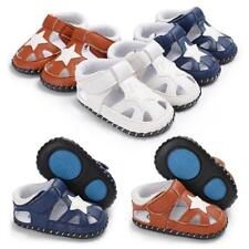 Infant Toddler Baby Boy Soft Sole Crib Shoes Sandals Newborn to 0-18 Months V1Q5