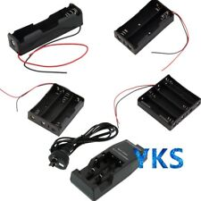 Battery Storage Case Box Holder with Wire Leads / AU DC Charger For 18650 QD