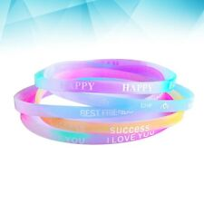 40pcs Fashion Silicone Wristband Chic Bracelets for School Fittness Party Favors