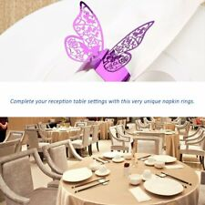 50pcs Butterfly Style Laser Cut Paper Napkin Ring for Wedding Table Decoration M