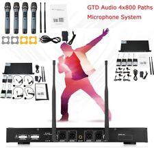 GTD Audio 4 Channel UHF Handheld Wireless Microphone System Mic (Brand New) 380H