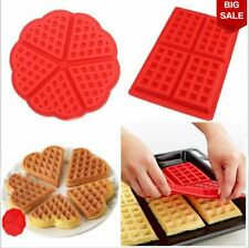 Waffles  Pan Cake Silicone DIY Mold Microwave Baking Chocolate Mould Tray Tools