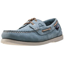 Chatham Compass Ii Deck Mens Sky Blue Leather Boat Shoes
