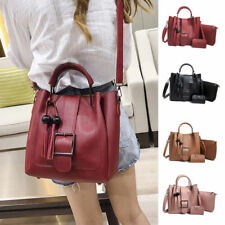 3pcs Women PU Leather Handbag Shoulder Bags Tote Purse Messenger Satchel Set