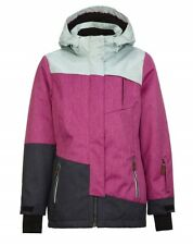 Girls' KILLTEC Baha Junior Insulated Jacket ORCHID Ski Snow Coat w/ Zip Off Hood