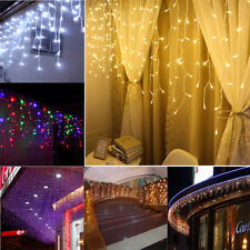 LED Window Curtain Icicle String Fairy Lights Wedding Party Christmas Decor