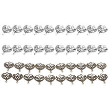 20x Filigree Hollow Out Love Heart Charms DIY Crafts 20x18mm Pendant Beads