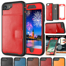 Shockproof Leather Hybrid Case for iPhone Xs Max/XR Heavy Duty Armor Stand Cover