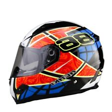 Motorcycle Racing Helmet Men Womem DOT Fiberglass Shell Street Bike Riding