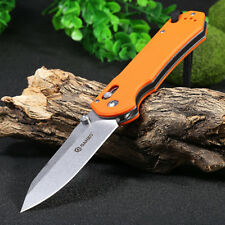 Ganzo G7452-GR-WS Axis Lock Pocket Knife + Whistle Hunting Camping Hiking Knifes