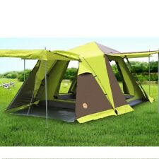 Large Automatic Camping Tent 3-4 Person Four-door Double Layer Waterproof