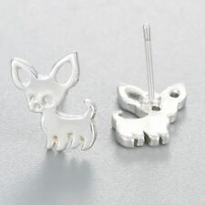 Chihuahua Dog Animal Stud Earring Hippie Boho Different Silver Gold Many Styles