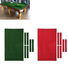 2.8x1.53m Pool Table Cloth Felt w/Strip for 9ft Snooker Pool Billiards Table