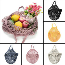 Shopping Bag Cotton String/Net Tote Reusable Mesh Fruit Storage Handbag