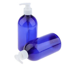 2x Empty Plastic Lotion Pump Bottles Cosmetic Airless Bottle Container 500ml