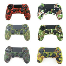 Camouflage silicone gel rubber soft skin grip cover case for ps4 controller VERY