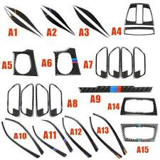 1Set BMW CD Control Panel Button Cover Stickers Headlight Eyebrows Trim F30 F32