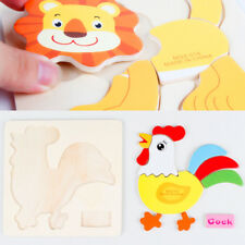 Wooden Jigsaw Puzzles Toy Cartoon Animals Puzzle Board Educational Children Toys