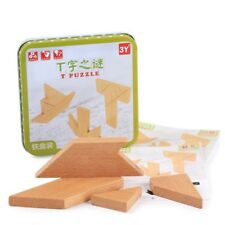 Wooden Jigsaw Puzzle Toy Iron Box Learning Shape Board Educational Children Toys