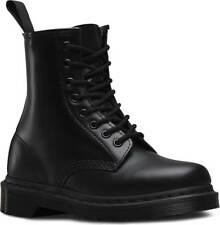 Mens Dr Martens 1460 8 Eye Black Smooth Mono Leather Lace Up Boots New In Box