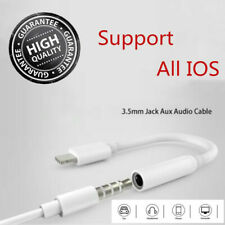 For iPhone 5 6 7 8 X Plus To 3.5mm Jack Headphone Aux Music Cable Cord Adapter