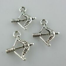 Tibetan Silver Alloy Ancient Crossbow Charms Pendants Crafts Jewelry Making