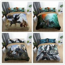 3D Monster Hunter Game Bedding Set Duvet Cover Quilt Pillowcases Cover