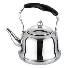 Whistling Kettle Stainless Steel Stovetop Tea Pot Kitchen Camping Fishing
