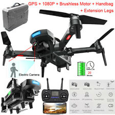 GPS Brushless 2.4G 4CH WiFi FPV 1080P HD Cam Foldable RC Drone Quadcopter + Case