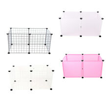 6 Panels Small Animal Playpen Metal Wire/Plastic Animal Fence Kennel for Pet