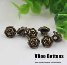 12PCS Vintage Resin Flower Shank Buttons Shirt Sewing Craft DIY 11.5MM/18L