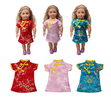 MagiDeal 18 inch Doll Cheongsam Dress Chinese Gown for American Girl Doll
