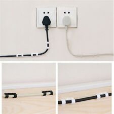 20pcs Self-Adhesive Cable Clips Organizer Drop Wire Holder Cord Management US