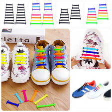 Easy No Tie Shoelaces Elastic Silicone Flat Shoe Lace Set for Kids Adults ES