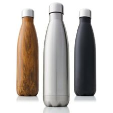 Vacuum Insulated Sports Water Bottles Double Wall Stainless Steel Hot Cold Caps