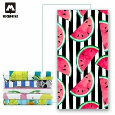 Microfiber Fiber Bath Beach Absorbent Drying Washcloth Shower Towel Watermelon