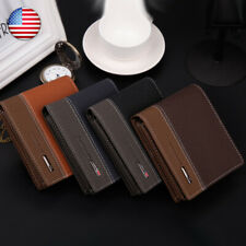 Men's Leather Wallet Pockets ID Credit Card Holder Slim Clutch Bifold Purse US