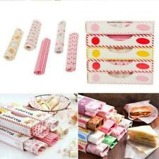 50Pcs Wax Paper Food Paper Bread Sandwich Wrappers For Fries HamBurgers Wra C3V6