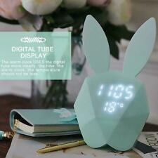 Rechargeable Nightlight Digital LED Alarm Clock With Thermometer Control Vo C9W8