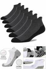 Mens Ankle Socks Low Cut Athletic Cushioned Running 6 Pack Shoe Size 7-12