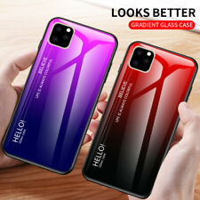 For iPhone 11 Pro XS Max XR  8 7 Plus Shockproof Tempered Glass Back Case Cover