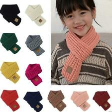 Kids Knitted Scarf Thickened Winter Warm Cotton Shawl Scarves Wrap Xmas Gift