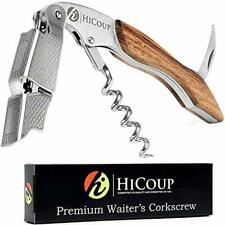 Professional Waiter's Corkscrew by HiCoup - Rosewood Handle All-in-one Corkscr