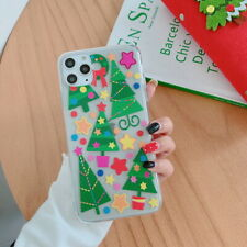 Case For iPhone 11 Pro Max 7 8 Xs XR Clear Pattern Christmas Tree Soft TPU Cover