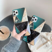 Case For iPhone 11 Pro Max XS XR X 7 8 Plus Mosaic Marble Plating Silicone Cover