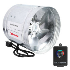 """4"""" 6"""" 8""""Duct Booster Inline Blower Fan Exhaust Ducting Cooling Vent & Controller"""