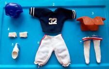 "1975 OJ SIMPSON 10"" shindana FOOTBALL PRO SET figure -- Shirt Pants Shoes Socks"