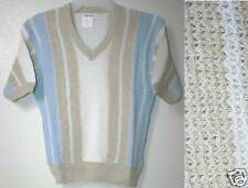 NEW Pastel Stripe Slouch Woven Sweater Top Shirt jr S M