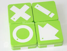 "Green ""Tic Tac Toe""Symbol Rectangular Contact Lens Case"
